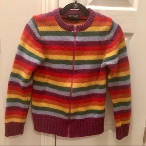 Vintage Japanese 100% wool rainbow cardigan
